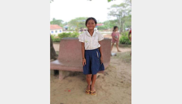 Ragazza beneficiaria in Cambogia